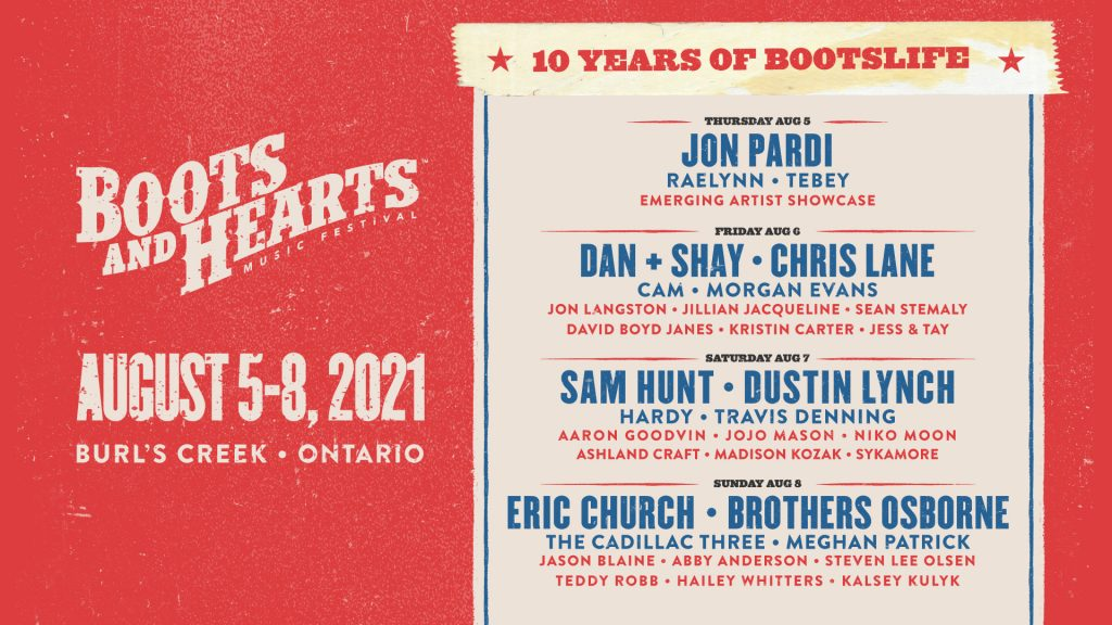 Boots and Hearts 2021 Full Lineup